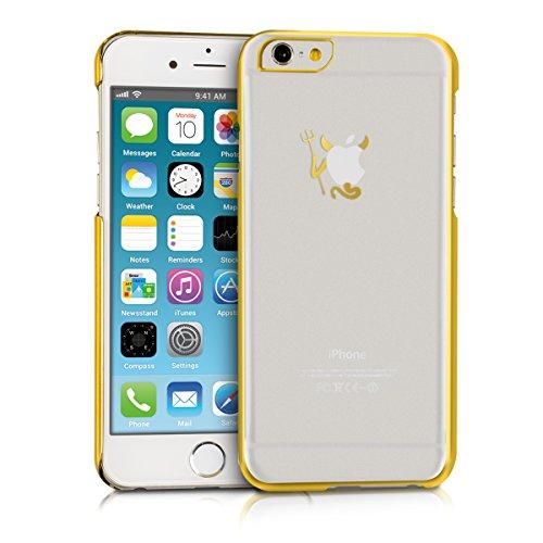 Kwmobile Custodia Chic Crystal Hard Case Super Sottile Per Apple Iphone 6 / 6S, Colore Trasparente diavolo oro trasparente
