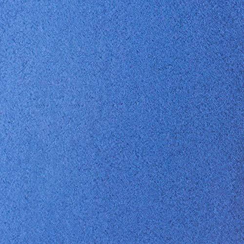 #7 Etérea Teddy Flausch Kinder-Spannbettlaken, Spannbetttuch, Bettlaken, 18 Farben, 60×120 cm – 70×140 cm, Blau - 3