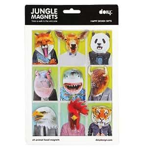 Doiy DYJUNGLEM Jungle Magnets, Magnete, 9 Stück/Packet