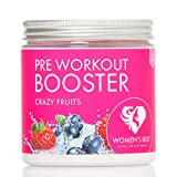 Pre Workout Booster Fitness  300g Pulver vegan CRAZY FRUITS