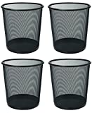 Lifestyle-You™ Mesh Metal Dustbin(4 Pcs) ~ Dust Bin ~ Trashbin ~ Trash Bin ~ Wastebasket For Home / Office / School etc