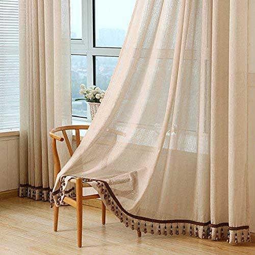 YSA Silk Road Gardinen, Wohnzimmer Coole Fenster Vorhänge Blackout Privacy Swags-Hellbraun 250x270cm
