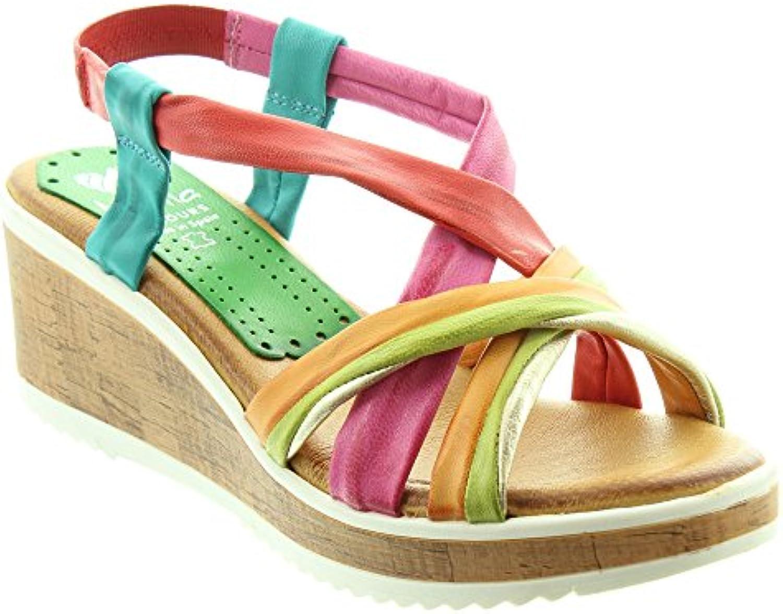 marila chaussures mesdames mesdames mesdames 315 wedge sandales dans les b07bg9pth1 multicolores parent a18a13