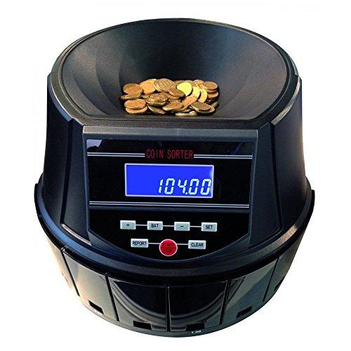 Macchina Contamonete Professionale Selezionatrice CS550, divide e conta monete Euro 8 tagli, con 8 cassetti raccoglitori + 8 raccoglitori a forma di tubo per blister