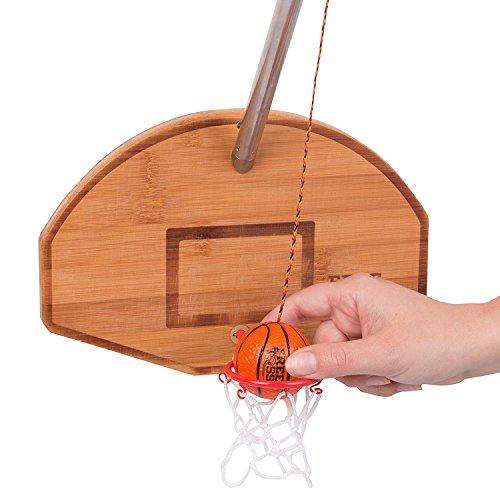 Tiki Toss Basketball und Hoop Swing Deluxe kostenlos Spiel Toss seien Sie der erste, eine Korb 100% Bambus Party Game (mit Teleskopmast) werfen - Spiele Süchtig Kostenlose