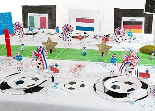 NEU Platzmatte Fußball, Ø 34 cm, 6 Stück im Beutel - 3