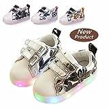 Chaussures Enfant, Chickwin LED Chaussures Lumineuse Bébé Enfant Unisexe Confortable Sneakers Clignotant LED Chaussures (22 / Mesure à l'intérieur (cm) 14, Noir)
