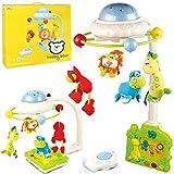 Scenique 2in1 Mobile für Baby Kinderbett und Bodenspiele elektrisch mit Projektor klappbar blau