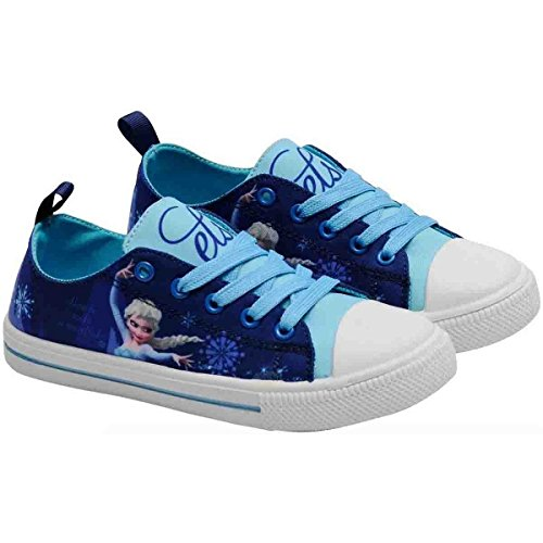 Disney Frozen Die Eiskönigin Anna Elsa Sneaker Schuhe Sportschuh Blau (25)