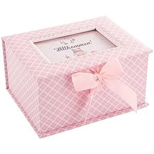 dkds Collection Baby principessa, regalo per nascita o battesimo, Cartone, rosa, 22 x 17 x 11.5 cm