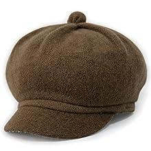 259ac63a LOCOMO Men Women Wool Duffle Velvet Plain Color Newsboy Cap FFH240BRN