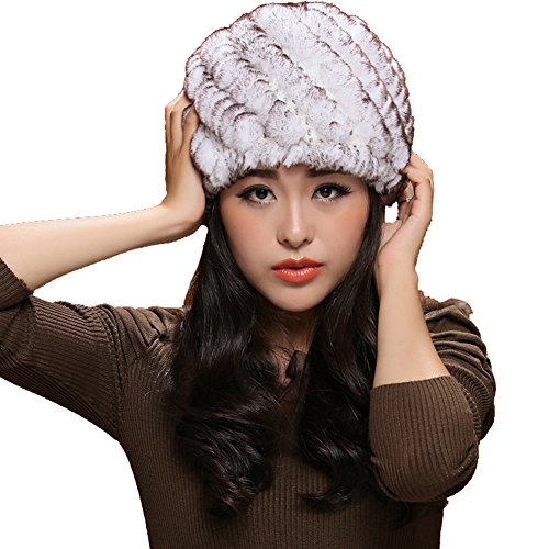 ONEWORLD High Quality Man-made Rabbit Fur Winter Hat For Ladies Women's