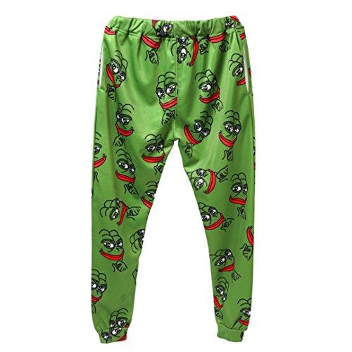 Pepe Frog Hoodies Anzüge Herren Sweatshirt Jogger Lustige Animal Print Set PantsFall Winter Unisex 3D Trainingsanzug Hosen Pepe Pants L (Hollister Hoodie Für Jungen)