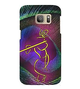 Lord Sri Krishna 3D Hard Polycarbonate Designer Back Case Cover for Samsung Galaxy S7 :: Samsung Galaxy S7 Duos G930F