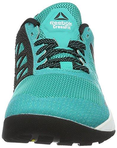 Reebok Crossfit Nano 6.0, Scarpe Sportive Indoor Donna Turchese (cfg-neon Pacific/black/polar Blue/hero Yellow)