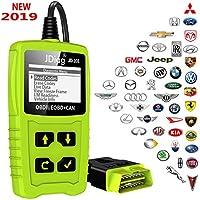 JDiag OBDII Dispositivo de diagnóstico automático para coche con lector de código OBD y test de batería
