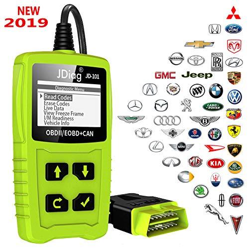 OBD2 Diagnosegerät OBD Code-Scanner-Fahrzeug-Fehlercodeleser arbeitet an allen Autos mit OBD2 / EOBD / CAN-Modi und 16-Pin OBDII-Schnittstelle für Lesen und Löschen Fehlercode und Batterie Test -