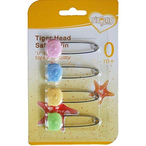 Rikang Tiger Head Safety Pin (4Pc Pack)