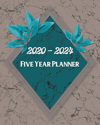 2020-2024 5 Year Planner: Turquoise Diamond Marble Design:  Monthly Yearly Schedule Organizer (60 Months):  Agenda Calendar For The Next 5 (Diamond Womens Kostüm)