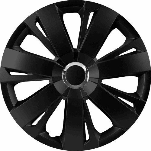 RAU 56027 Radzierblende Radkappe Energy passend für alle gängigen 14 Zoll Stahlfelgen, schwarz - 4-er Set