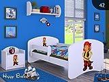 moleo 5902729201834 Children's Bed-Pirates, Holz, White, 144 x 75 x 62 cm