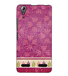 Fuson Designer Back Case Cover for Lenovo A6000 Plus :: Lenovo A6000+ :: Lenovo A6000 (Pink designer pattern)