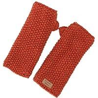 Guru-Shop, Hand Cuffs, Wool Cuffs With Pearl Pattern From Nepal, Rust-orange, Size:One Size, Cuffs & Wristlets