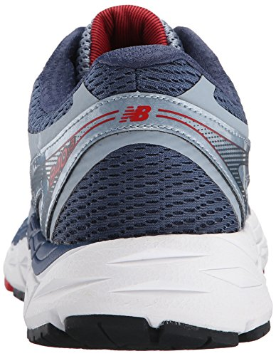 New Balance Men's M840V3 Running Shoe, Grey/Red, 10 2E US Grey / Red