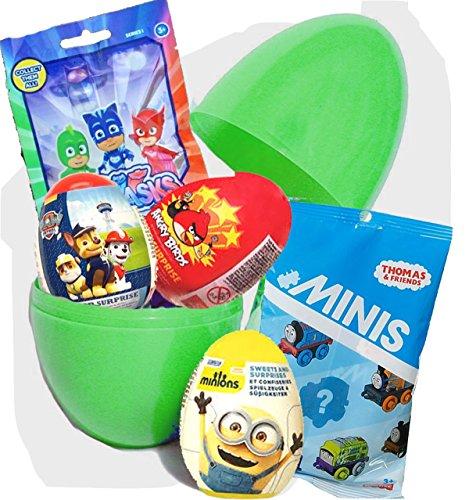Überraschungsei, Geburtstagsgeschenk mit PJ Masks & Thomas Minis blinden Taschen, Jungen & Mädchen, große Überraschungseier