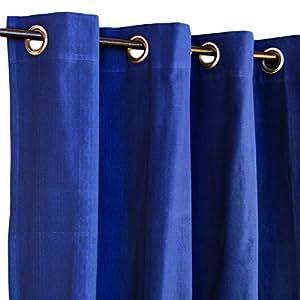 Thedecofactory 153009 Hip Hop Rideau Coton Bleu Marine 150 x 250 x 3 cm