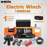 X-BULL Cabrestante eléctrico 12v 5900Kg 13000Lbs Winch Cuerda Sintético 4x4/recuperación Ina ...
