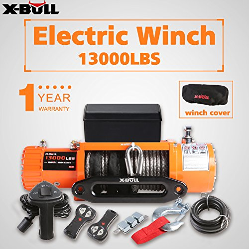 X-BULL Electric Winch 13000lb 12V Synthetic Rope 4x4/Recovery Ina