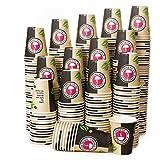 1000 Vasos Desechables de Café Para Llevar - Vasos Carton 360 ml para Servir el Café, el Té, Bebidas Calientes y Frías