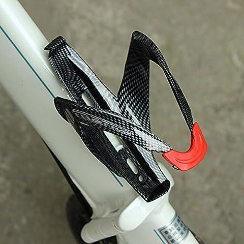 Carbon Faser Textur Fahrrad Wasser Flaschen Halter erweiterte Fahrradflaschenhalter