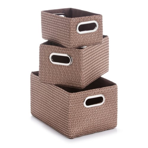 zeller-basket-plastic-mocca-3-piece
