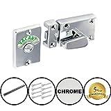Dzinatm indicatore bullone serratura per bagno/WC (Vacant-impegnati) cromo lucido