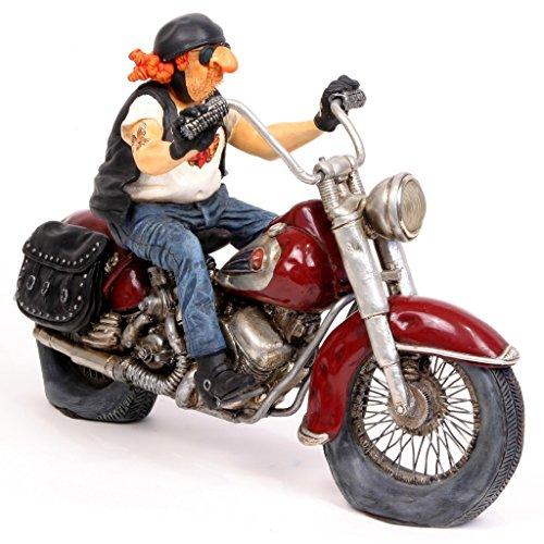 Guillermo Forchino–Die Motorrad–Handbemalte Skulptur aus Kunstharz