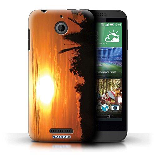 Kobalt® Imprimé Etui / Coque pour HTC Desire 510 / plage conception / Série Coucher du Soleil ciel orange