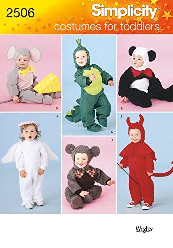 Simplicity Schnittmuster 2506–Kleinkind-Kostüme Größen: A (Kostüme Nähen Und Engel)