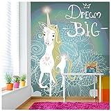 azutura Weißes Einhorn Fototapete Traum groß Tapete Mädchenzimmer Kinderzimmer Wohnkultur Erhältlich in 8 Größen Riesig Digital