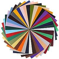 MVPOWER42 PCS Tissu en Feutre DIY Feuilles de Tissu Coupon de Tissu Doux Feuille de FeutrineDIY Couture Artisanat Assorties Couleurs Carrés (20x30 cm)