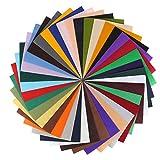 MVPOWER Filz Stoffen Blätter DIY Kunsthandwerk Bastelfilz set mit Sortierte Farben, 42 PCS Quadrate (20x30cm)
