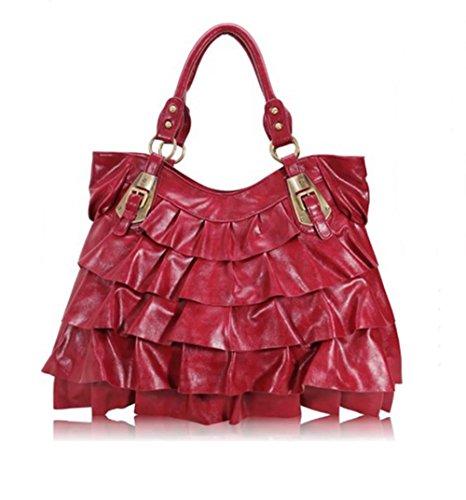 SEstyles, Borsa tote donna (rosso)