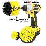 Drillbrush All Purpose Badoberflächen Dusche, Badewanne und Fliesen Strom Scrubber Bürsten-Reinigungs-Kit all purpose mittel gelb