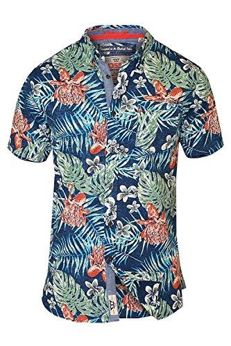 d555-chemise-casual-chemise-a-fleurs-col-boutonne-homme-bleu-xxxx-large