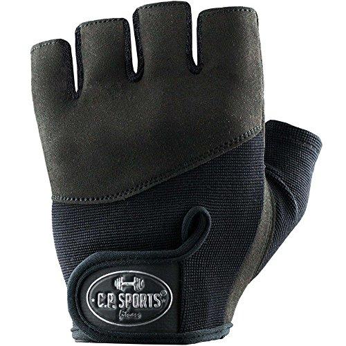 C.P. Sports Iron-Handschuh Komfort Trainingshandschuh Fitness Handschuhe für Damen und Herren (Black, XS/6 = 14-16cm)
