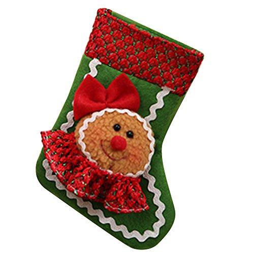 Gmgqsago calze di natale bambola carino cookie regalo modello storage bag sock style pocket xmas decor–da uomo women's