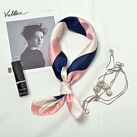 Ladies Women New Fashion Scarf Square Stain Hair Scarf