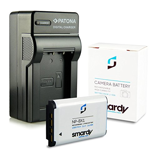Galleria fotografica Caricatore NP-BX1 + smardy® Batteria Accu per Sony Cyber-shot DSC-H400 HX50 RX1 WX300…