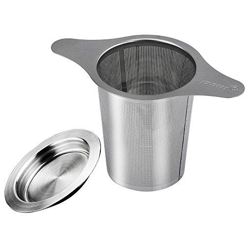 [ Nuova Aggiornamenta versione ] Ipow Teiera eccellente Tè infusore 304 acciaio inossidabile setaccio con due manopole per Allentati foglia verde tazze da tè, tazze, e teiere